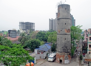 A semaphore tower near Prabartak Jute Mill