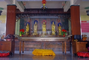 Ground Floor Prayer Hall, Hsuan Tsang Monastery, Paschim Chowbaga, Calcutta