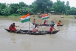 Boat Race on Churni River, Independence Day Celebration (18 Aug) , Shivnibas, Nadia