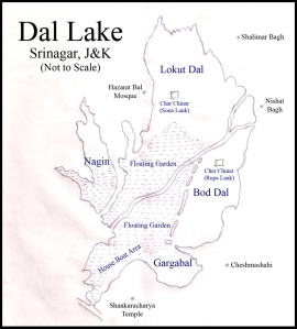 Dal Lake Map