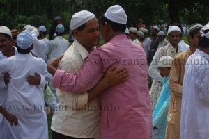 Ceremonial Hugging, Eid - ul - Fitre, Red Road, Kolkata