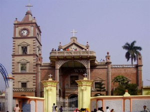 """Bandel Church """"Our Lady of the Happy Voyage,"""" Bandel, Hooghly, West Bengal"""