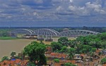 Jubilee Bridge over Hooghly River, from Imambara Tower