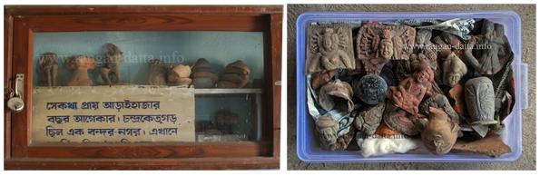 Chandraketugarh Artifacts (L: Dilip Kr. Maite, R: Asad uj Jaman)