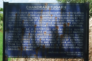 ASI Board at Chandraketugarh