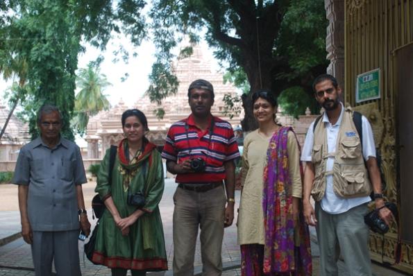 L - R: P.  Jogi Naidu, Kiran Mehta, Rangan Datta, Kalyani and Sunil Vaidyanathan