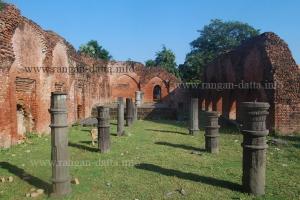 Inside Bais Darwaza Masjid, Pundooah (Hooghly)