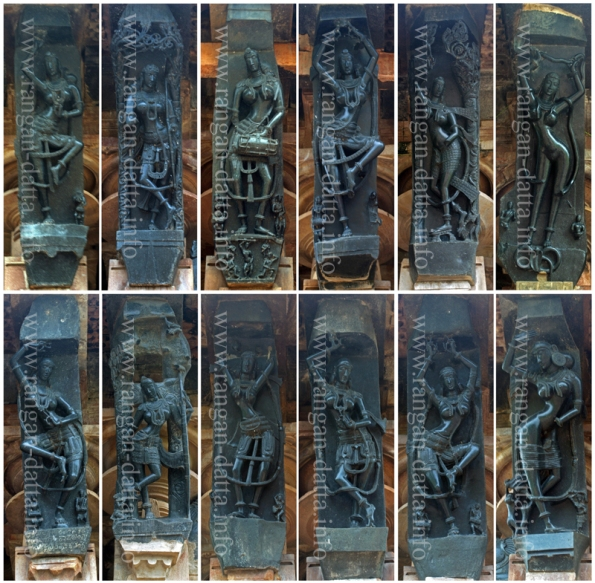 12 Dancing Girls (Mnadkinis) Sculptures of Ramappa temple, Palampet, Warangal