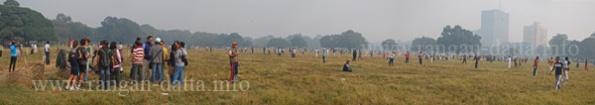 Panoramic view of the endless Calcutta Maidan