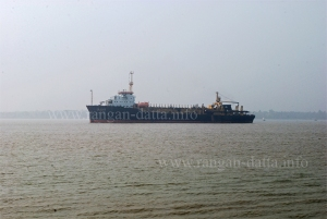 Ship on Hooghly River, Falta
