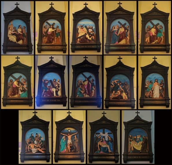 14 Stations of the Cross. Portuguese Church, Calcutta (Kolkata)