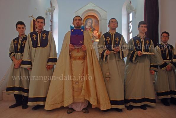 Sunday Mass at Holy Trinity Armenian Church , Tangra, Calcutta (Kolkata)