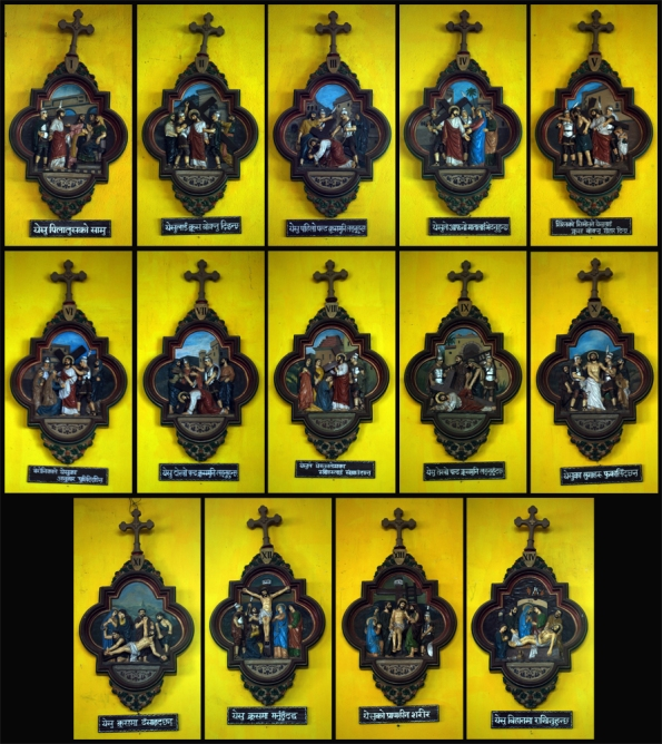 14 Stations of Cross, st. John Berchman's Church, Kurseong