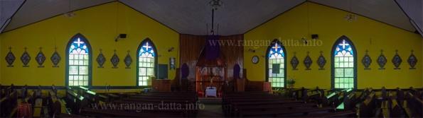 Panoramic views of the interior of St John Berchman's Church, Kurseong