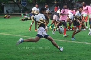Action at Calcutta Cup 2014