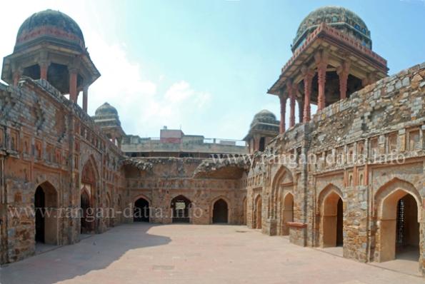 Courtyard of Jazah Mahal, Mehrauli, Delhi