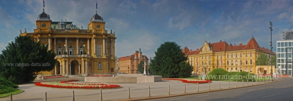 Croatian National Theatre and Museum of Arts and Crafts, Marshal Tito Square, Zagreb