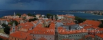 Panoramic view of Zadar and Adriatic Sea from the Bell Tower of St. Anastasia's Cathedral, Zadar