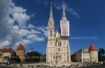 Panoramic view of Zagreb Cathedral, Kaptol, Zagreb