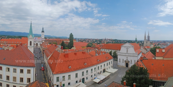 Gornji Grad (upper town), Zagreb from Lotrščak Tower