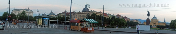 King Tomislav Square and Hotel Esplanade from Zagreb's Main Station (Galvni Kolodvor)