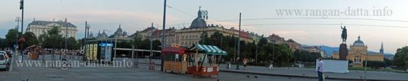 King Tomislav Square and Hotel Esplanade from Zagreb's Main Station (Galvni Kolodvor) Gate