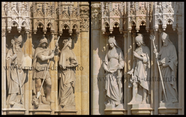 Compilation of sculptures from the outer walls of Zagreb Cathedral, Kaptol