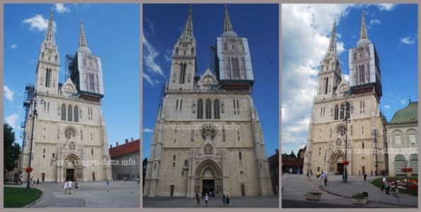 Different views of Zagreb Cathedral, Kaptol, Zagreb