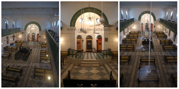The simple but elegant interiors of Nevheh Shalome Synagogue, Kolkata (Calcutta)