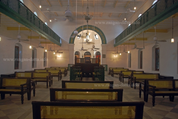 Interiors of Nevheh Shalome Synagogue, Kolkata (Calcutta)
