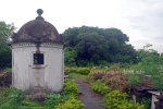 The Genezia towers above the graves of Jewish Cemetery, Kolkata (Calcutta)