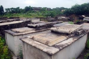 Decorative graves at the Jewish Cemetery, Kolkata