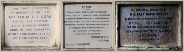 Plaques at Jewish Cemetery, Kolkata (Calcutta)