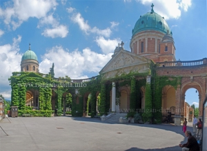 Church of Christ the King and the entrance of Mirogoj Cemetery