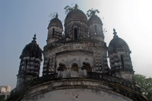 The towering Radhanath Temple