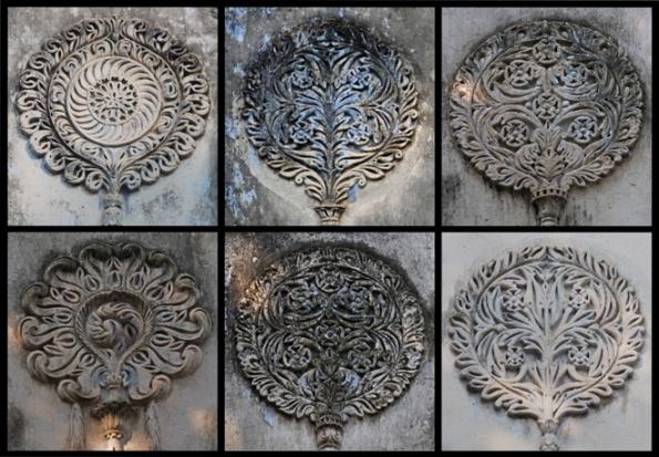 Floral Stucco works, Radhanath Temple