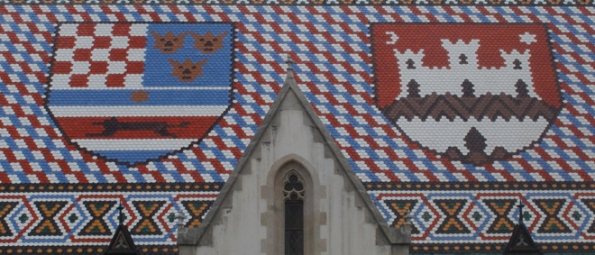 Coat of Arms Croatia and Zagreb, St. Mark's Church, Zagreb