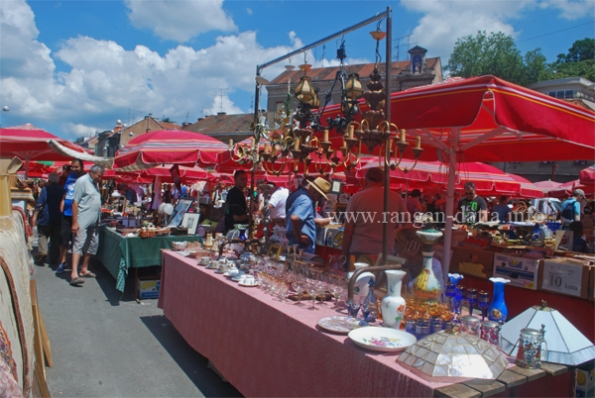 Flea Market at the Britanski trg (British Square), Zagreb