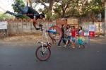 Bike Stunts, Happy Street, Park Street, Kolkata