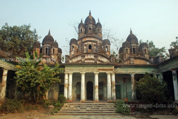 The main three temples of Choto Ras Bari, Tollygunge - Chetla area, Kolkata