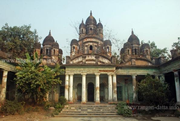 The main three temples of Choto Ras Bari, Tollygunge - Chetla area, Kolkata