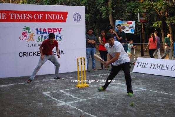 Cricket at Happy Street, Park Street, Kolkata