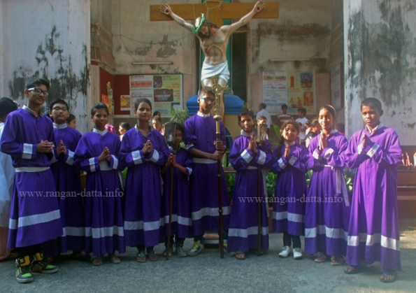 Seven Church Walk group of St. Teresa's Church at Prabhu Jishu Girja