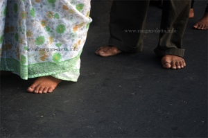 Bare feet, Seven Church Walk, Kolkata
