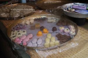 Sweets displayed at Makhanlal Shop, Natun Bazar, Chitpur Road