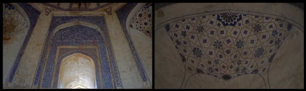 Fresco Art inside Mohammad Quli Khan's Tomb, Mehrauli Archaeological Park, Delhi