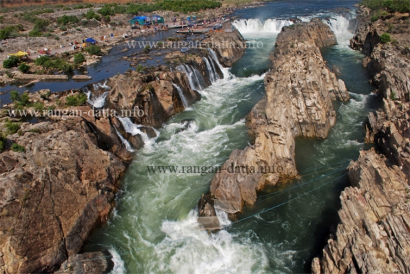 View of Dhuandhar Falls from Ropeway