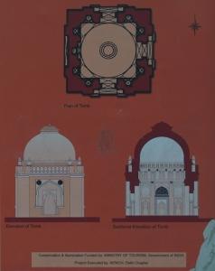 Sectional Digrams of Lodi Period Tomb, Lado Sarai.
