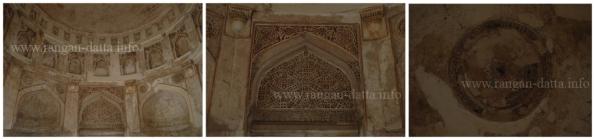 Decorative interiors of the Lodi Period Tomb, Lado Sarai, Delhi