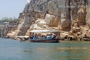 Boat ride at Marble Rocks, Bhedaghat, Jabalpur, MP